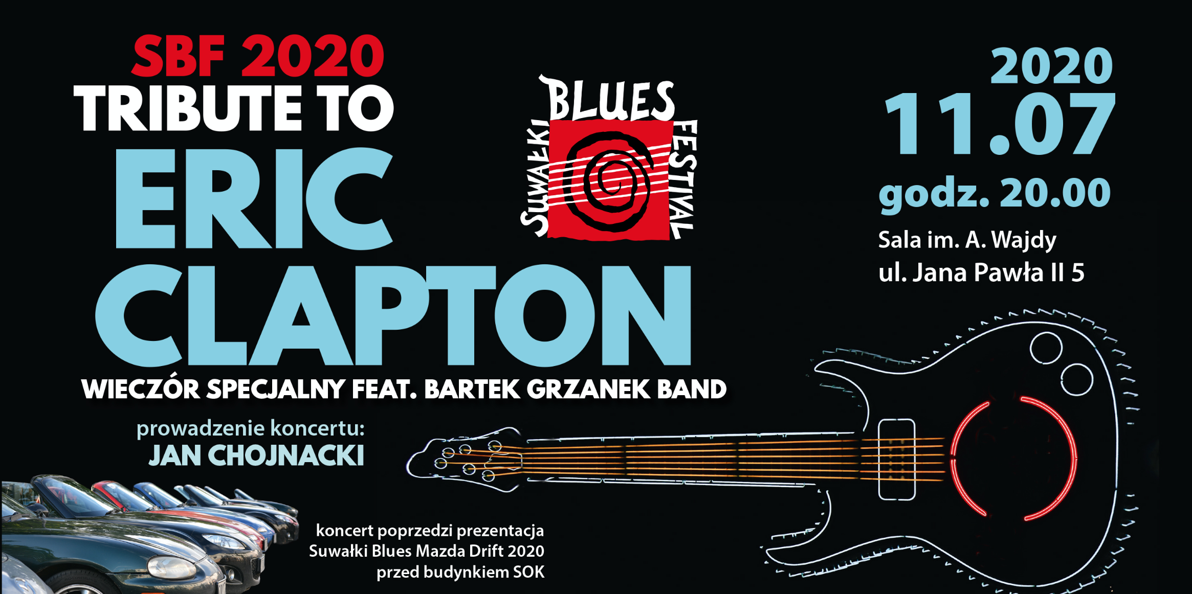 SBF 2020: Tribute to Eric Clapton z Bartek Grzanek Band